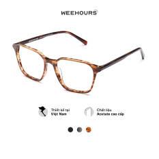 Gọng kính cận nam/nữ WeeHours KAY , dáng vuông thời trang, nhựa Acetate cao cấp