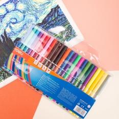 DELI Bút màu nước học sinh 1.0mm, 12/18/24 màu/hộp E37169/E37170/E37171