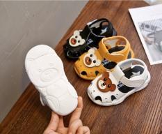 Giày sandal tập đi cho bé đế mềm êm chân có kèn hình gấu dễ thương – Kèm hình thật