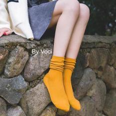 Tất Nhún Hàn Quốc-Tất Cao Cổ Hàn Quốc Vintage (có nhiều màu)