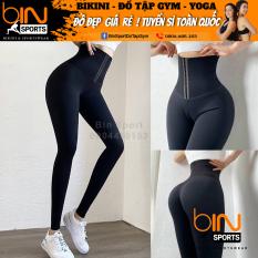 Quần Legging Kết Hợp Latex Giúp Giảm Mỡ Cap Siêu Cao Tập Gym Yoga Bin Sports Q094