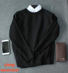 Áo len cao cấp nam màu đen