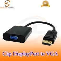 Cáp DisplayPort sang VGA Adapter hỗ trợ 1080p với 60 Hz – đen tem VSP