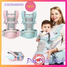 [GIÁ SIÊU SALE] Địu em bé cao cấp đa tư thế, đai điệu trẻ em có hộp tì bệ ngồi trợ lực giữ dáng ngồi cho con yêu