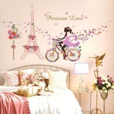 Tranh dán tường Hình Cô gái Paris đáng yêu