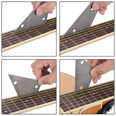 Guitar Luthier Tool Kit Included 1 Pcs Guitar Fret Crowning Luthier File,1 Pcs Stainless Steel Fret Rocker,2 Pcs Fingerboard Guards Protectors And 2 Grinding Stone For Guitar