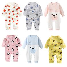 Bộ áo liền quần dài tay cao cấp cho bé sơ sinh -12 tháng Bodysuit Body cotton dài tay cho bé trai bé gái Hàng Quảng châu xuất Nhật SL16