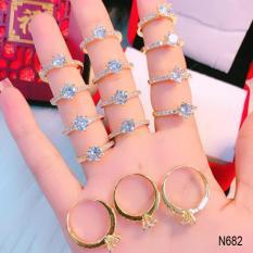 Nhẫn nữ đá hột cao đơn giản thiết kế cao cấp Orin N683