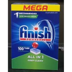 Viên rửa bát Finish All-in-1 Hộp 100 viên dùng cho máy rửa bát + Tặng 3 viên Finish Nhật
