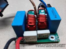 Vỉ lọc nguồn 2 cấp 15A kèm ổ cắm cho thiết bị âm thanh