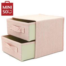 Hộp đựng đồ hai ngăn Miniso (Hồng)