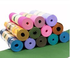 Thảm Tập Yoga 2 Lớp Cao Cấp, Thảm tập gym và yoga TPE 2 lớp, Thảm Tập Gym, Thảm Yoga – Thảm lót tập thể dục dài 1,85M rộng 0,61M dày 6mm. Thảm dẻo, đàn hồi tốt, chất liệu an toàn khi tiếp xúc với da có thể sử dụng lâu dài.