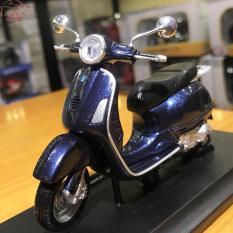 Mô hình xe mô tô Vespa Granturismo(2003) tỉ lệ 1/18 màu xanh ngọc bích
