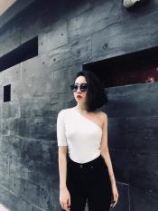 [store191] – Áo Lệch Vai 1 Tay Lửng Siêu Sexy