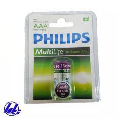 Pin sạc AAA Philips 800mAh – Vỉ 2 viên