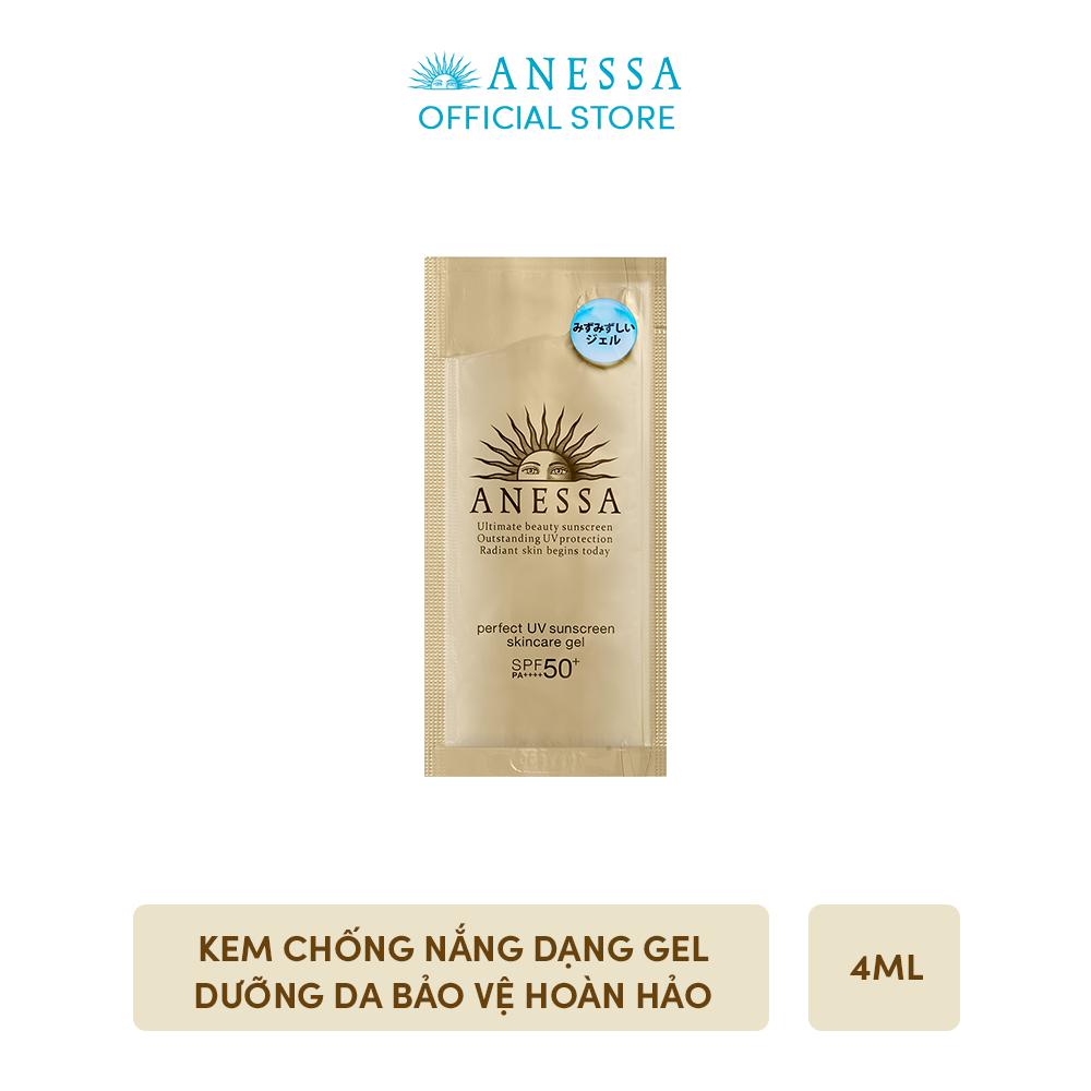 [GIFT] Kem chống nắng dạng gel dưỡng da bảo vệ hoàn hảo ANESSA Perfect UV Sunscreen Skincare Gel SPF 50+ PA++++ 4g