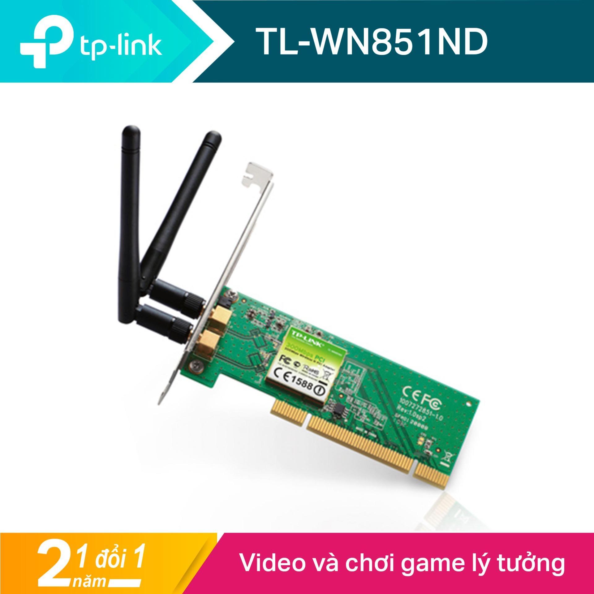 TP-Link Card mạng PCI Wi-Fi Chuẩn N 300Mbps- TL-WN851ND -Hãng phân phối chính thức