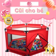 [ Tặng 10 bóng] Quây Bóng💎SALE💎 cũi bóng lều chơi cho bé Nhà bóng mini khung Inox lưới gấp gọn di động