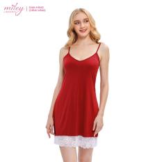 Đầm Ngủ Thun Lạnh Chân Ren Comfort MILEY LINGERIE DMS
