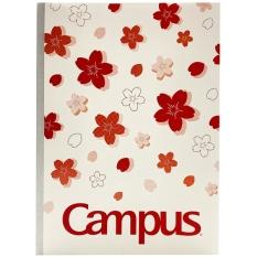 Vở B5 200 Trang Campus Sakura – Kẻ 4 Ly Ngang – Đỏ/Trắng