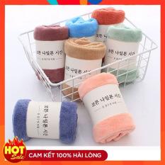 Khăn mặt lông cừu xuất Hàn Quốc cao cấp, mềm mịn, thấm hút tốt, an toàn mọi loại da, nhiều màu trơn khổ 40×25 cm [akycare]