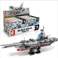 Bộ lắp ráp kiểu lego Sembo mô hình tàu sân bay 12082