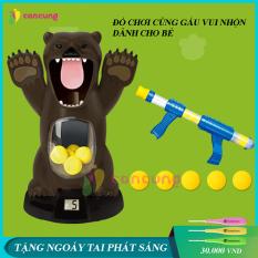 Đồ chơi trẻ em, đồ chơi ném gấu bằng dụng cụ bông mềm phát ra âm thanh vui nhộn dành cho bé