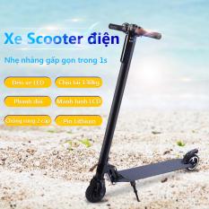 Xe Scooter xe trượt điện mini có thể gấp thanh thiếu niên nam nữ đi làm đi học tiện lợi Our shopping home