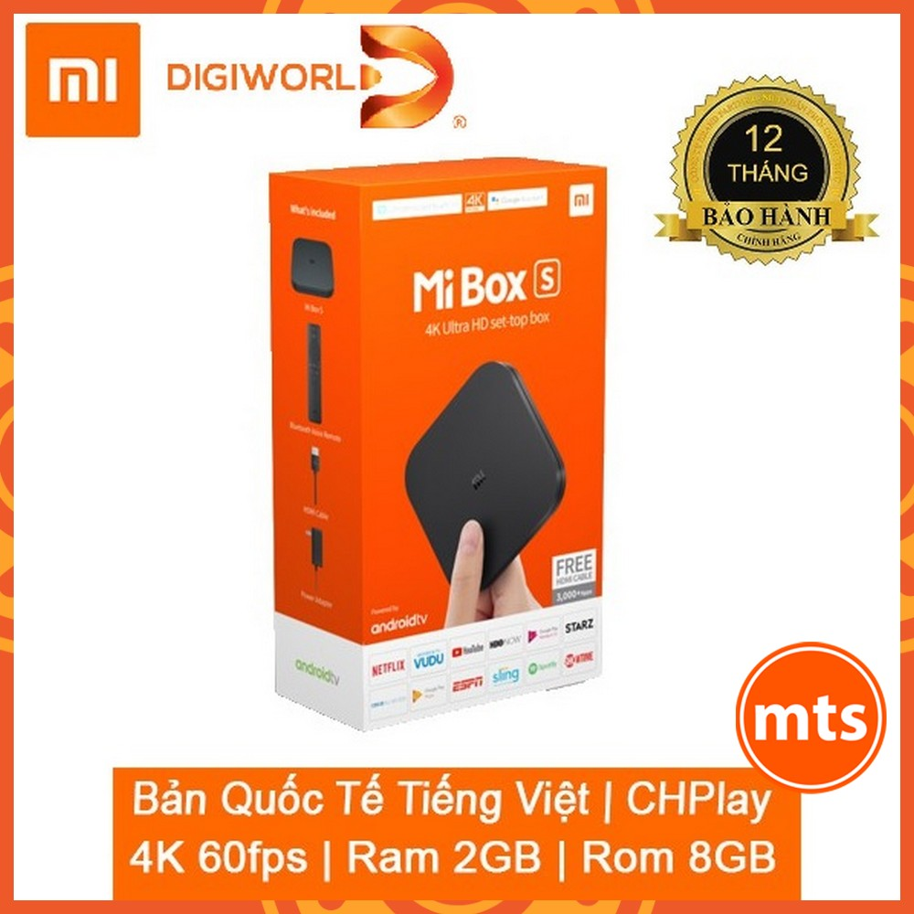 Đầu Android TV MIBOX S 4K QUỐC TẾ | BH 12 tháng Chính Hãng Digiworld - Minh Tín Shop