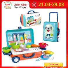 Bộ đồ chơi nấu ăn cho bé phiên bản quốc tế kèm vali đựng tiện dụng, nhựa nguyên sinh an toàn, màu sắc sinh động- KAVY