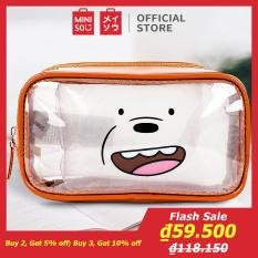 Túi đựng mỹ phẩm Miniso Bare Bears (Nhiều màu)