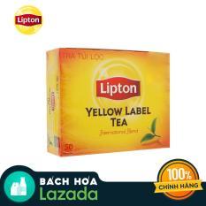 Trà đen Lipton nhãn vàng hộp 100g (2gram x 50 gói)