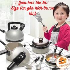 Đồ chơi nấu ăn cho bé 36 món size lớn cho bé gái (Mẫu không bếp)