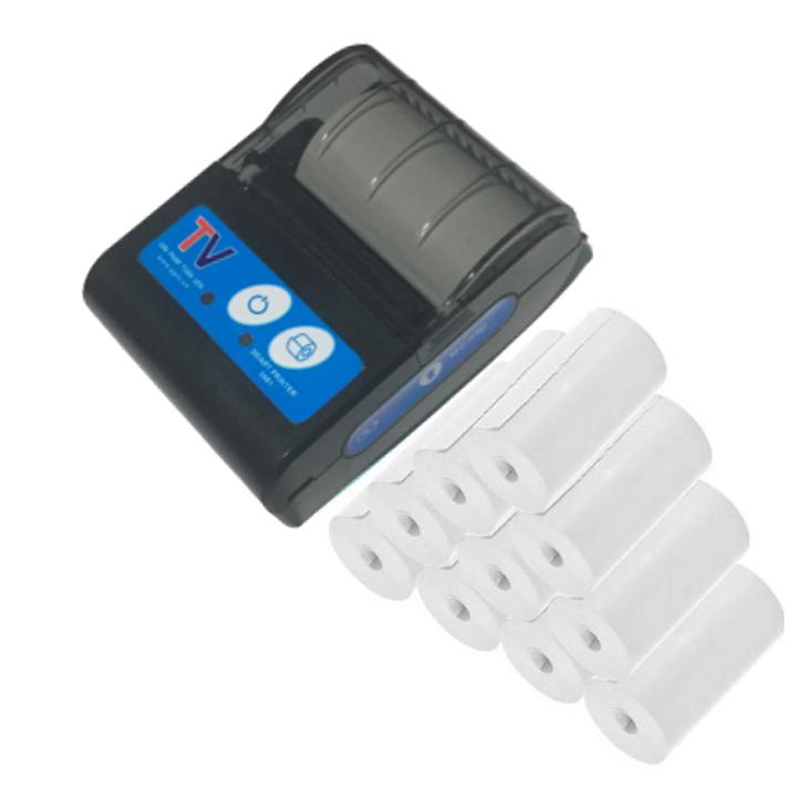Máy in hóa đơn nhiệt bluetooth không dây mi ni cầm tay in bill K58 Kèm 10 cuộn giấy