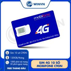Sim 4G 10 số Mobifone C90N Mỗi tháng Tặng 120GB [Free tháng đầu]+Miễn phí gọi nội mạng + 50p gọi ngoại mạng
