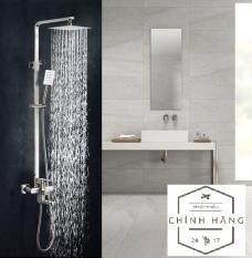 Bộ sen cây tắm nóng lạnh Inox SUS304 vuông TT1089 (Bảo hành toàn quốc 2 năm), sen vòi tắm nóng lạnh, sen cây tắm đứng nóng lạnh