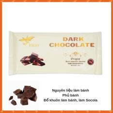 Sô cô la đen đổ khuôn làm bánh 75% cacao Figo 200gram