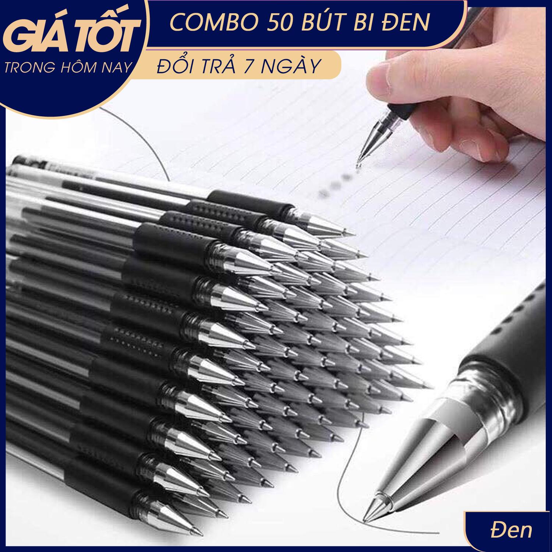 (Bán sỉ) Combo 50 Bút Mực Nước-Bộ 50 Bút Bi Nước Siêu Bền, Bút Bi Mực Nước Xanh, Đen