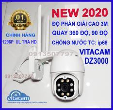 Camera ngoài trời vitacam dz 1296p dz3000 3MPX 3 MPX xoay 350 độ, đàm thoại 2 chiều,