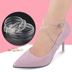 Quai giày chống rộng – chống trượt gót chân silicon trong suốt dây khóa chỉnh tùy ý phù hợp các size giày
