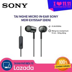 Tai nghe nhét tai có mic SONY in-ear MDR-EX155AP – Chất Bass Mạnh Mẽ, Treb Vang và Rõ