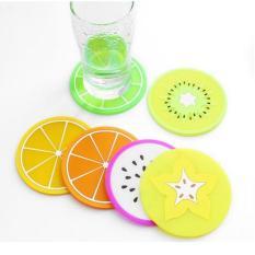Sét 5 miếng lót cốc hình hoa quả
