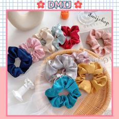 [Cột Tóc Vải Scrunchies] Dây Buộc Tóc Scrunchies Nhiều Màu Hàn Quốc
