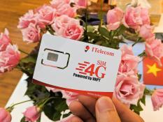Siêu Sim 4G ITELECOM Tặng 90Gb/tháng, miễn phí gọi nội mạng, ngoại mạng 30 phút và 60 tin nhắn nội mạng