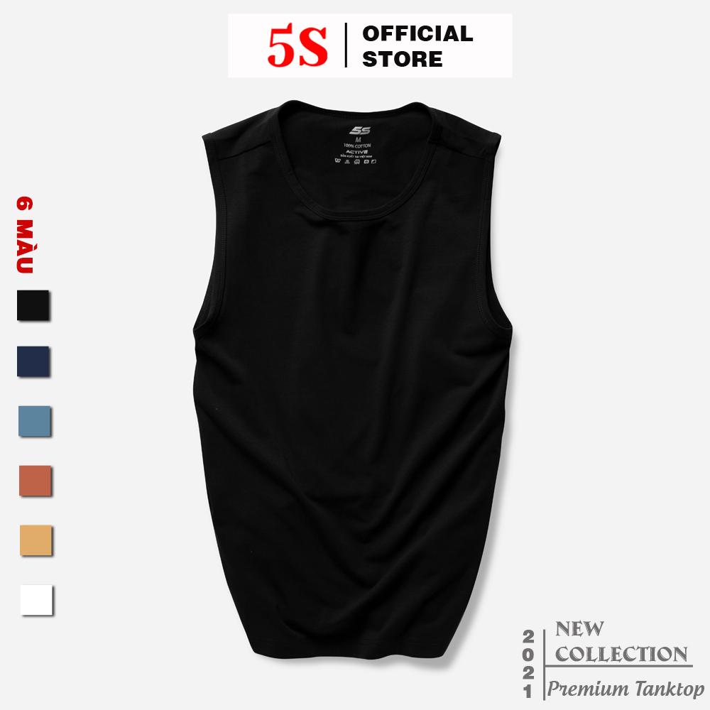 Áo Sát Nách Nam 5S (6 màu) Dáng Thể Thao, Thiết Kế Năng Động, Chất Liệu Cotton Premium Siêu Mát,...