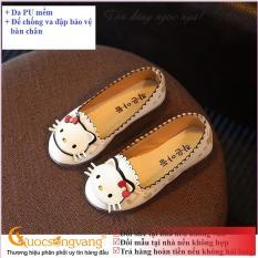 Giày dép bé gái giày bé gái búp bê đế kếp GLG006 hình mèo Cuocsongvang