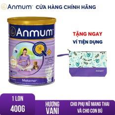 [GIẢM 25 ĐƠN 449TR]Sữa bột Anmum Materna hương Vani 400g tặng Ví anmum