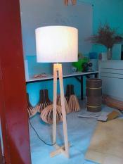 Đèn cây để sàn Modern Wood Floor Standing Lamps