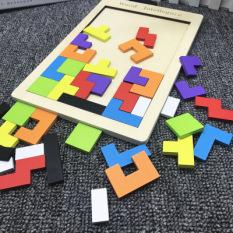 Đồ chơi xếp hình bằng gỗ / Đồ chơi xếp hình thông minh kích thích phát triển tư duy logic của bé