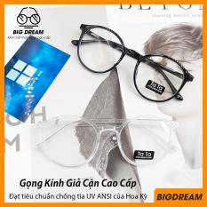 Gọng kính giả cận nam nữ cao cấp Hàn Quốc – Kính cận tròn không độ mẫu đẹp lạ BDTT – Bảo hành 12 tháng 1 đổi 1 – Tặng kèm túi đựng + Khăn lau